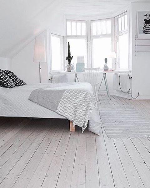 White Interior Bedroom White Wooden Floors White Laminate
