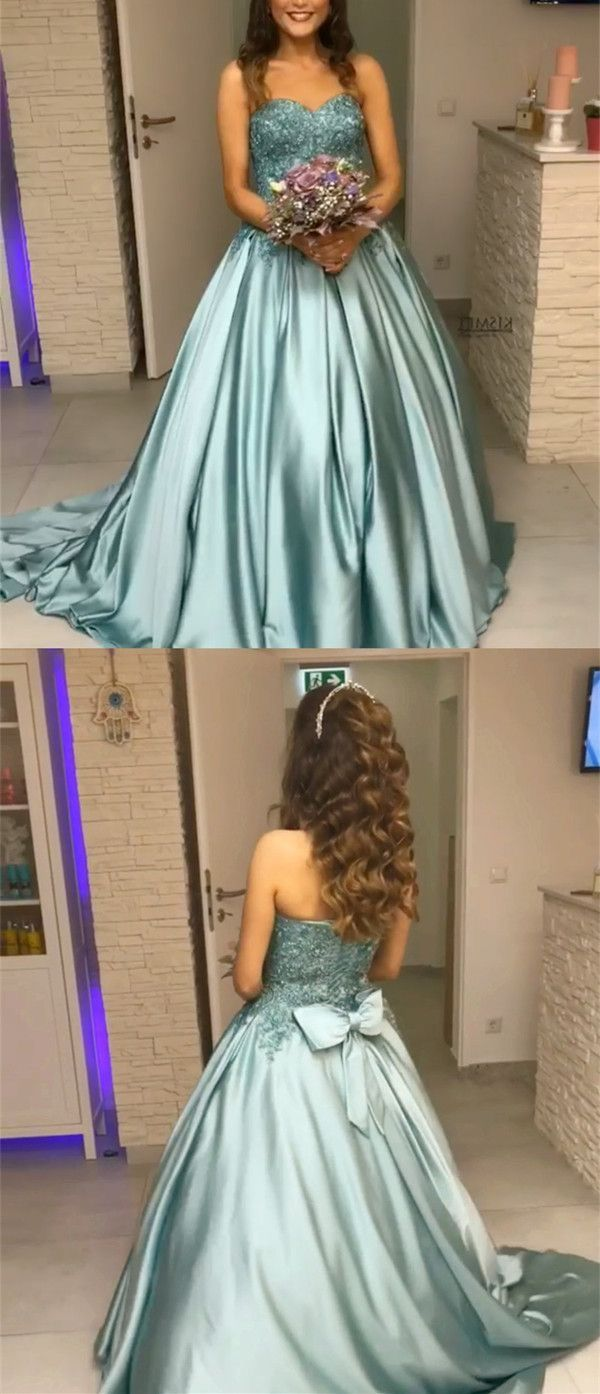 Charming appliques prom dress sexy ball gown prom perfect prom