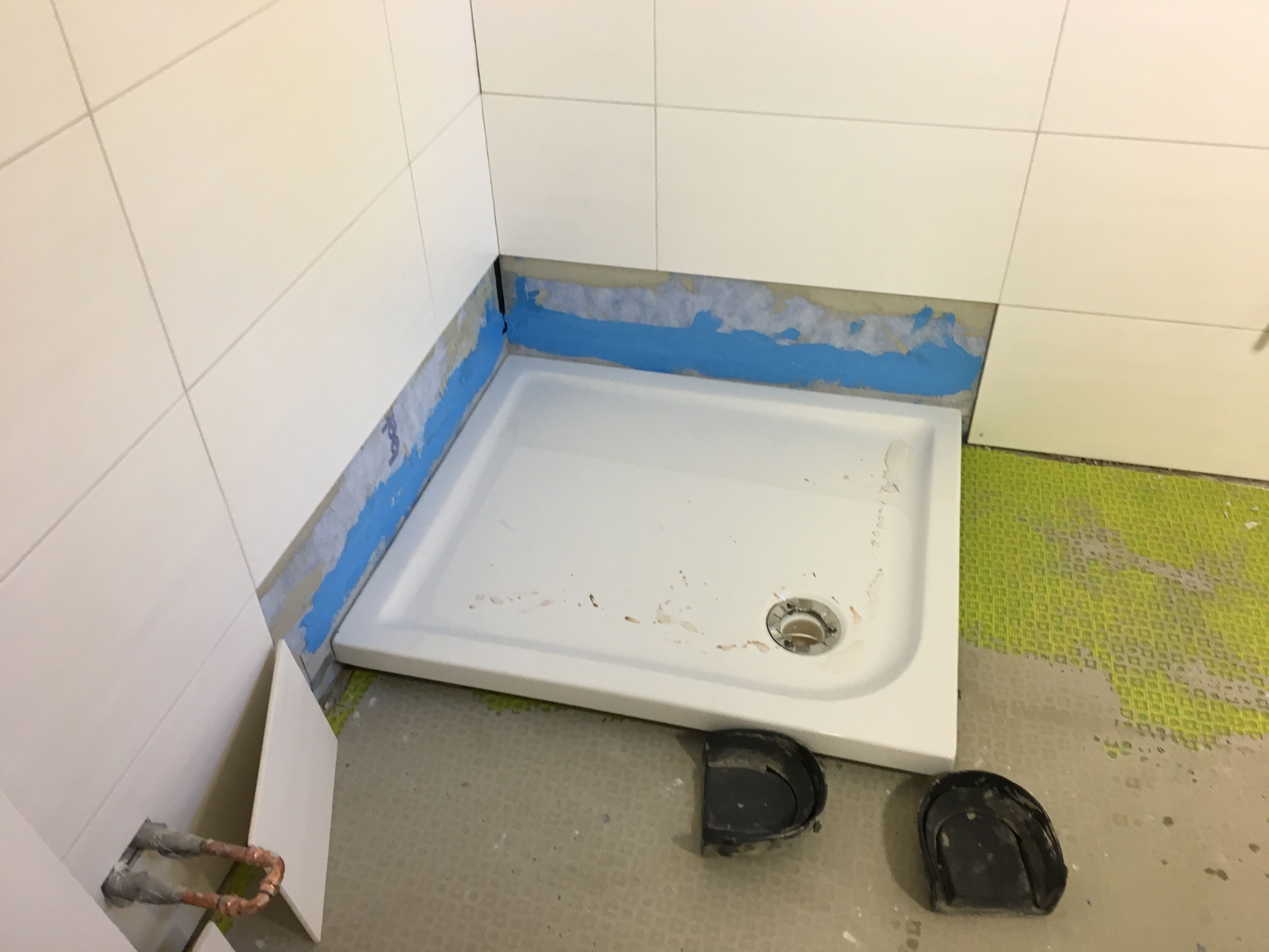 Duschwanne Montiert Mit Wannendichtband Duschwanne Dusche Wanne