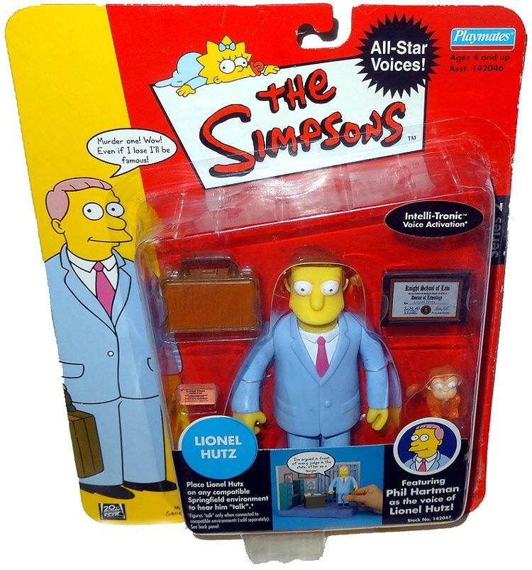 Playmates Simpsons Series 2 LIONEL HUTZ Phil Hartman Voice Interactive Figure