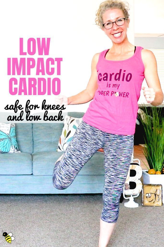 10 minute LOW IMPACT CARDIO endurance workout, safe for KNEES + LOW BACK #cardioworkouts