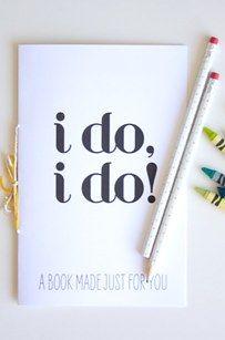 Gratis te printen kleur -en speelboekje voor kindjes tijdens een huwelijk!