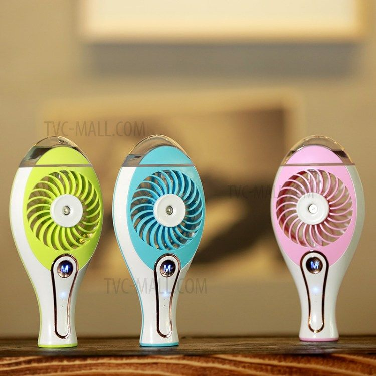 Portable Water Spray Fan Handheld Mini USB Beauty Misting Fan with Cooling Mist Humidifier (WT-H18) - Pink-5