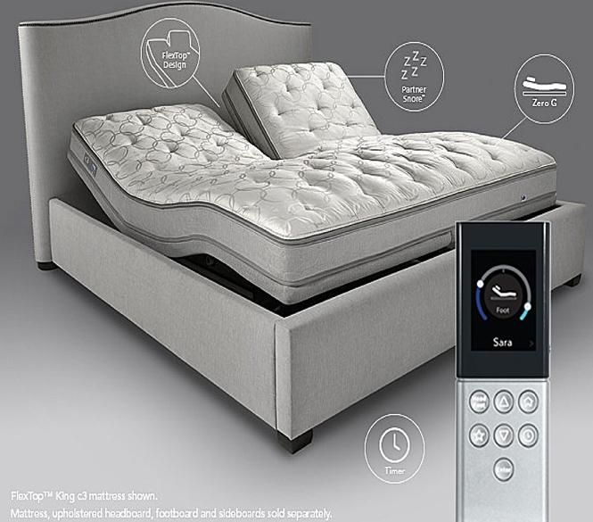 they have two remote w/ bed together.#committosleep experience and