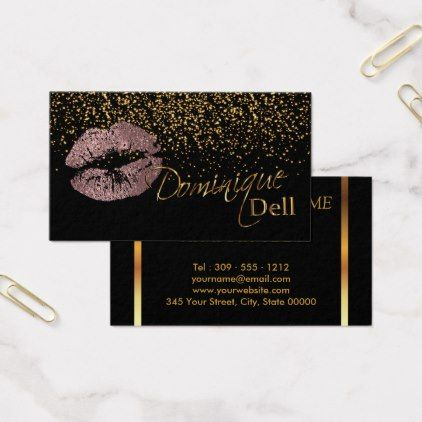 Custom makeup artist dusty rose gold business card reheart Choice Image