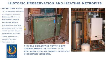 Radiant Engineering Inc's retrofitting a heating system in a historic house on the national register. The Ketterer, Bozeman, Montana.  #boilers #Viessmann #historic