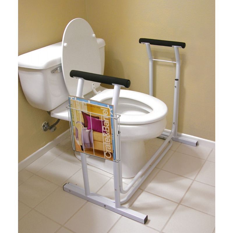 Toilet Safety Support Bar Rail Bathroom Seat Frame Medical Handicap Elderly