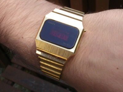 Scarce Vintage 1970 S Timex Ssq Red Led Digital Watch With Images