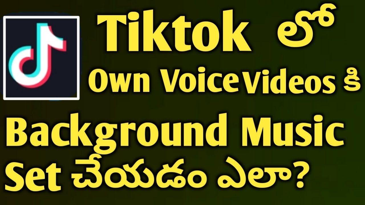 Tiktok Bgm Add Add Bgm Tiktok Tiktokbackgroundmuisc Tik Tok How To Add Background Music To Tiktok Own Voice Video Add Music On Ow Add Music Music The Voice