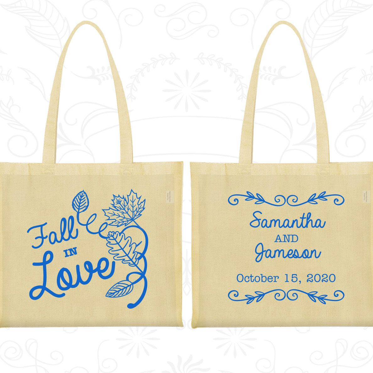 Cotton Tote Bag, Tote Bags, Wedding Tote Bags, Personalized Tote ...