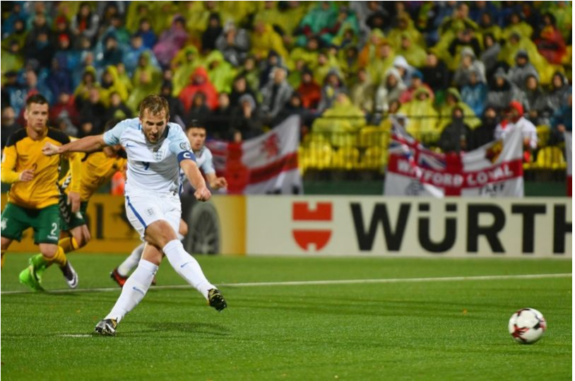 Lithuania 01 England Kane penalty sees Three Lions end