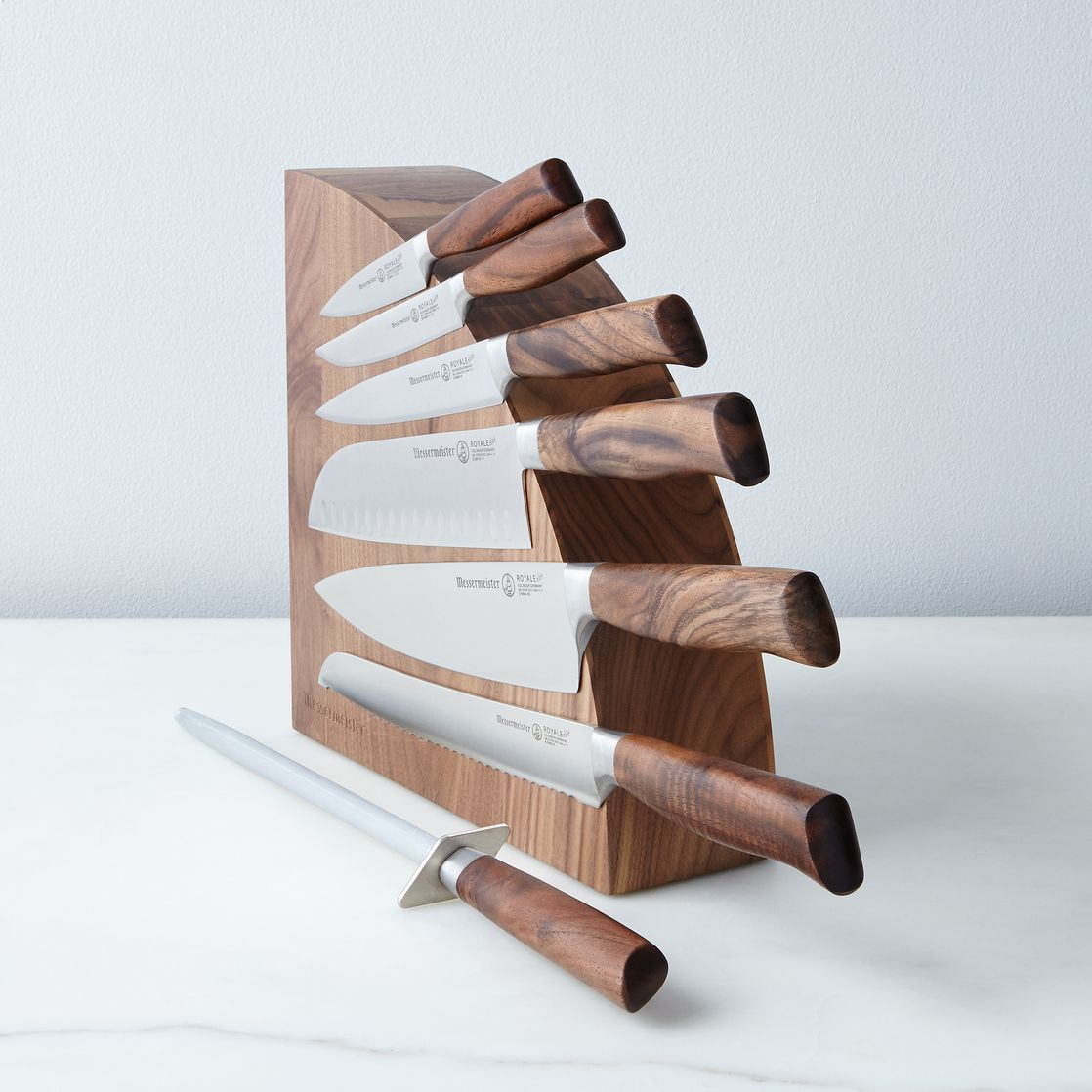 magnetic wood knife block kitchen update pinterest messerblock k chenmesser und messer. Black Bedroom Furniture Sets. Home Design Ideas