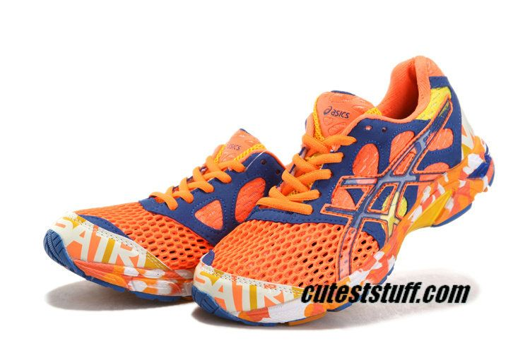 Cheap off to Sale Womens Asics Gel Noosa TRI 7 Neon Orange Dark Blue Orange  White with Western Union