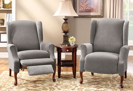 Etonnant Wingback Recliner Chair Slipcovers