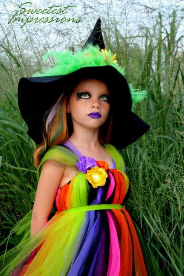 Maquillaje De Halloween 6 Ideas Para Ninos Diy Pinterest - Maquillaje-bruja-para-nia