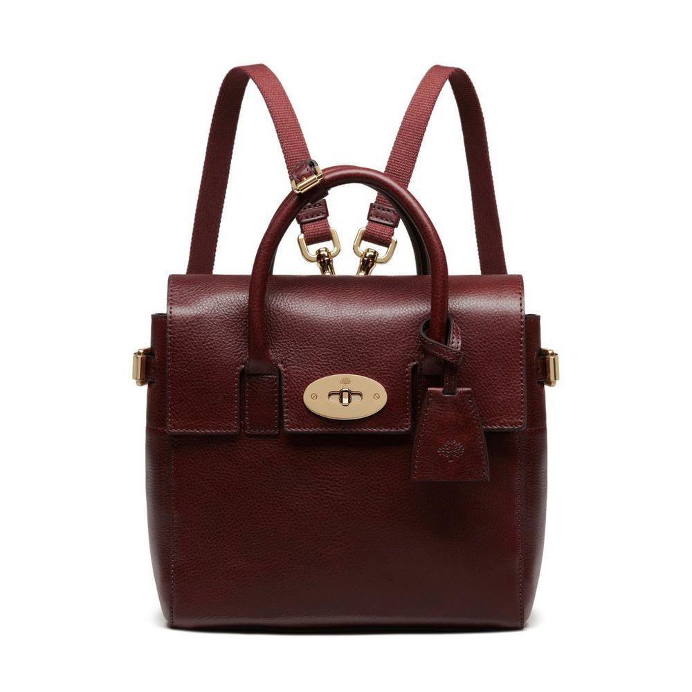 9d489c2605 Mini Cara Delevingne Bag in Oxblood Natural Leather