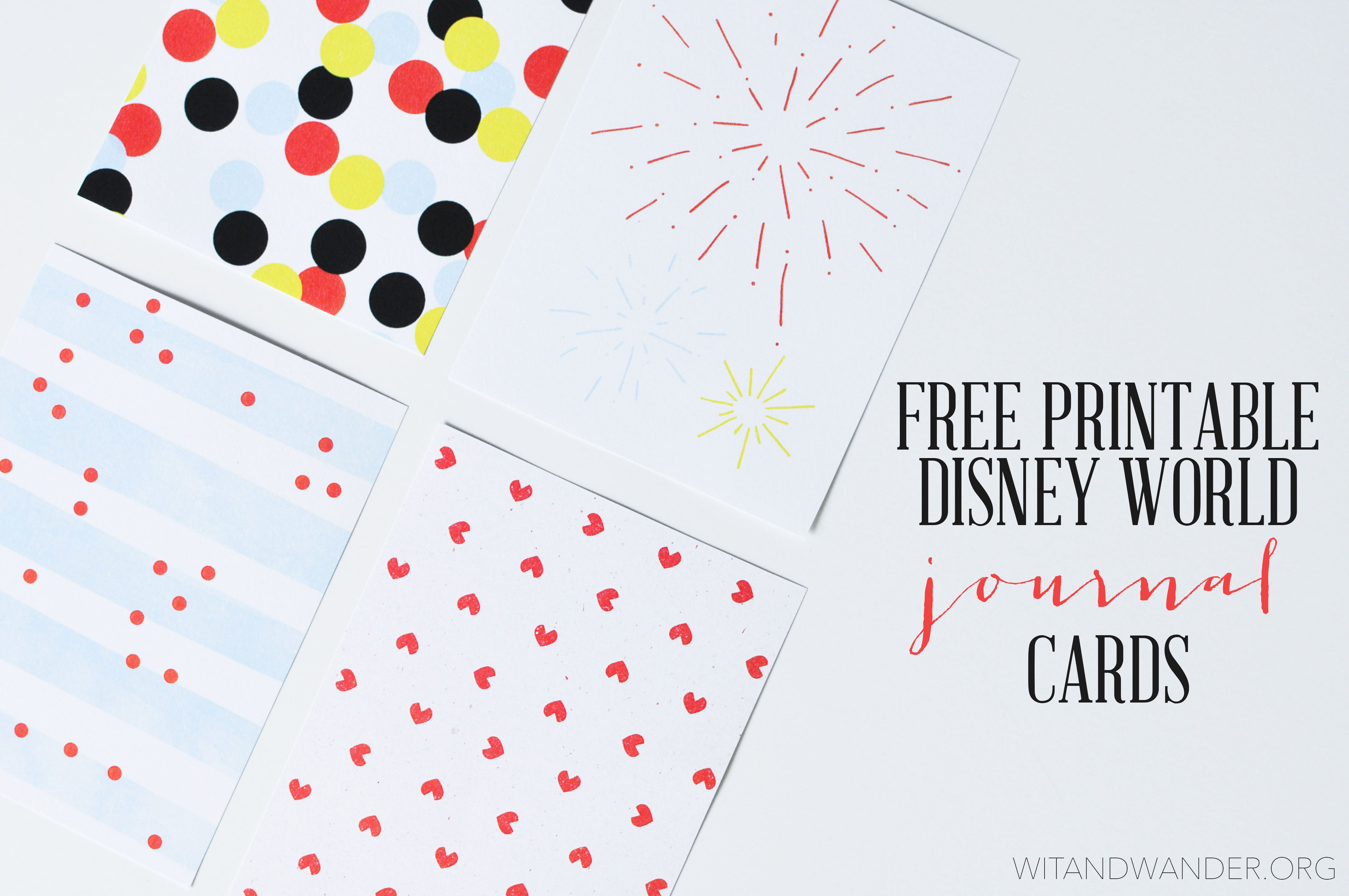 Disney World Scrapbook Printables Free Disney World Disney Project Life