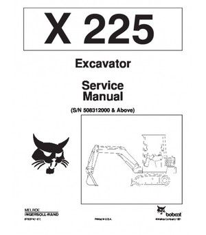 Bobcat 225 Excavator Service Repair Manual PDF S/N 5083