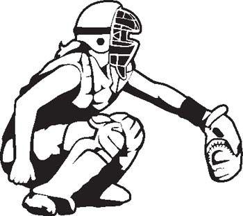 Softball catcher. Clipart images clipartfox baseball