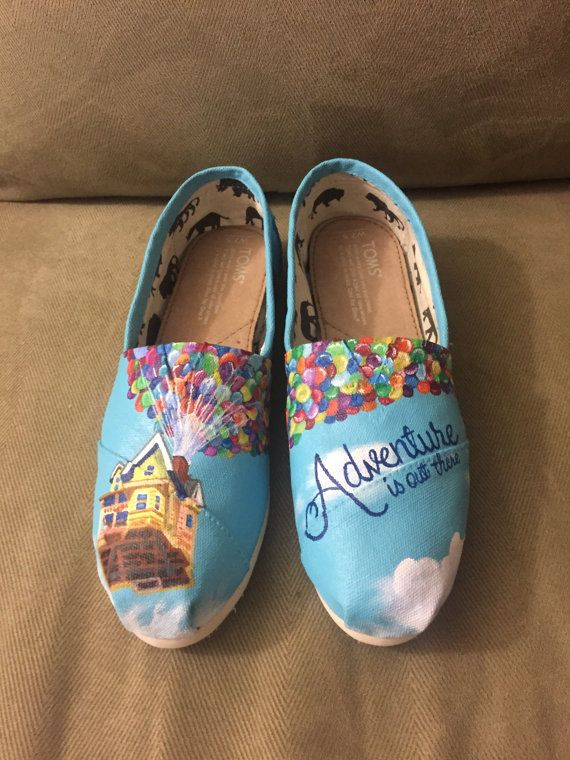 d374bb2e936dd UP Toms. Handpainted custom shoes. Ellie & Carl. Adventure is out ...