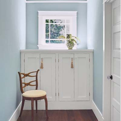 Under Window Built In Storage Would Work Well For A Dormer Bathroom