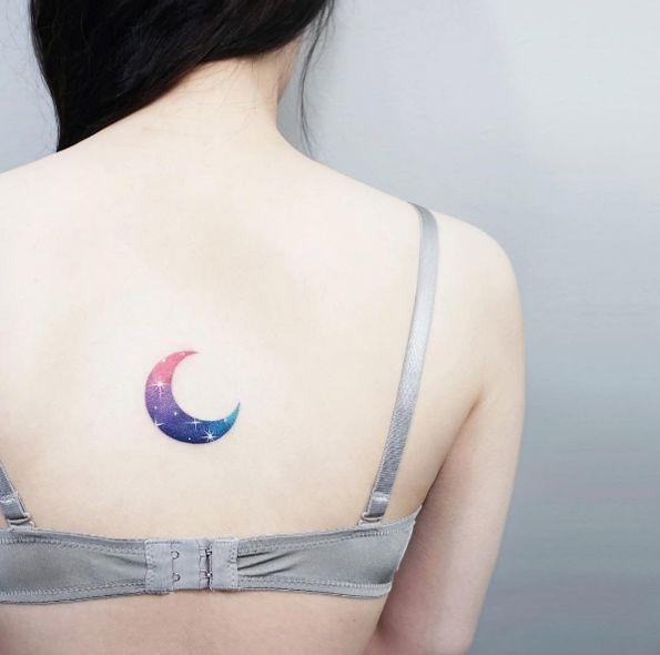 58167b402 Cosmic crescent moon by IDA. Cosmic crescent moon by IDA Sun Tattoos ...