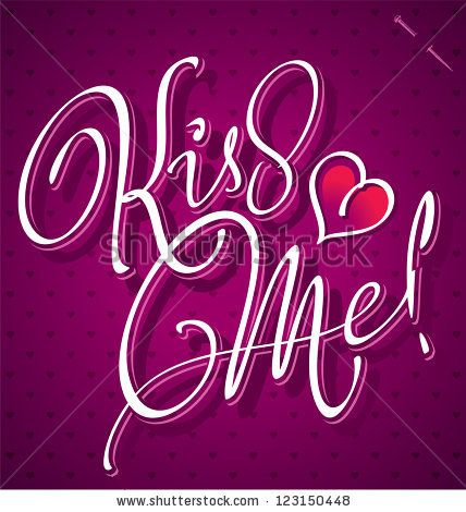 KISS ME hand lettering - handmade calligraphy, vector (eps8) - stock vector #download #stock #StockImages #microstock #royaltyfree #vectors #calligraphy #HandLettering #lettering #design #letterstock #silhouette #decor #printable #printables #craft #diy #card #cards #label #tag #sign #vintage #typography