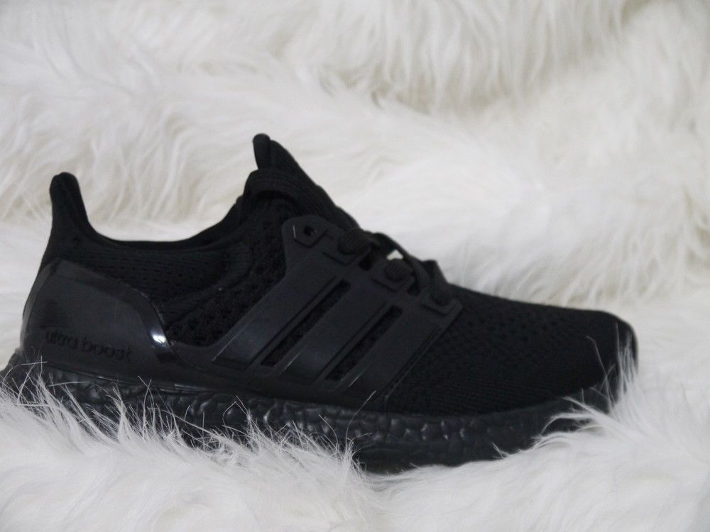 New Size 7 Us Men S Adidas Ultra Boost 1 0 Triple Black Running Shoes Bb4677 Fashion Clothing Shoes Accessor Black Running Shoes Adidas Men Shoes