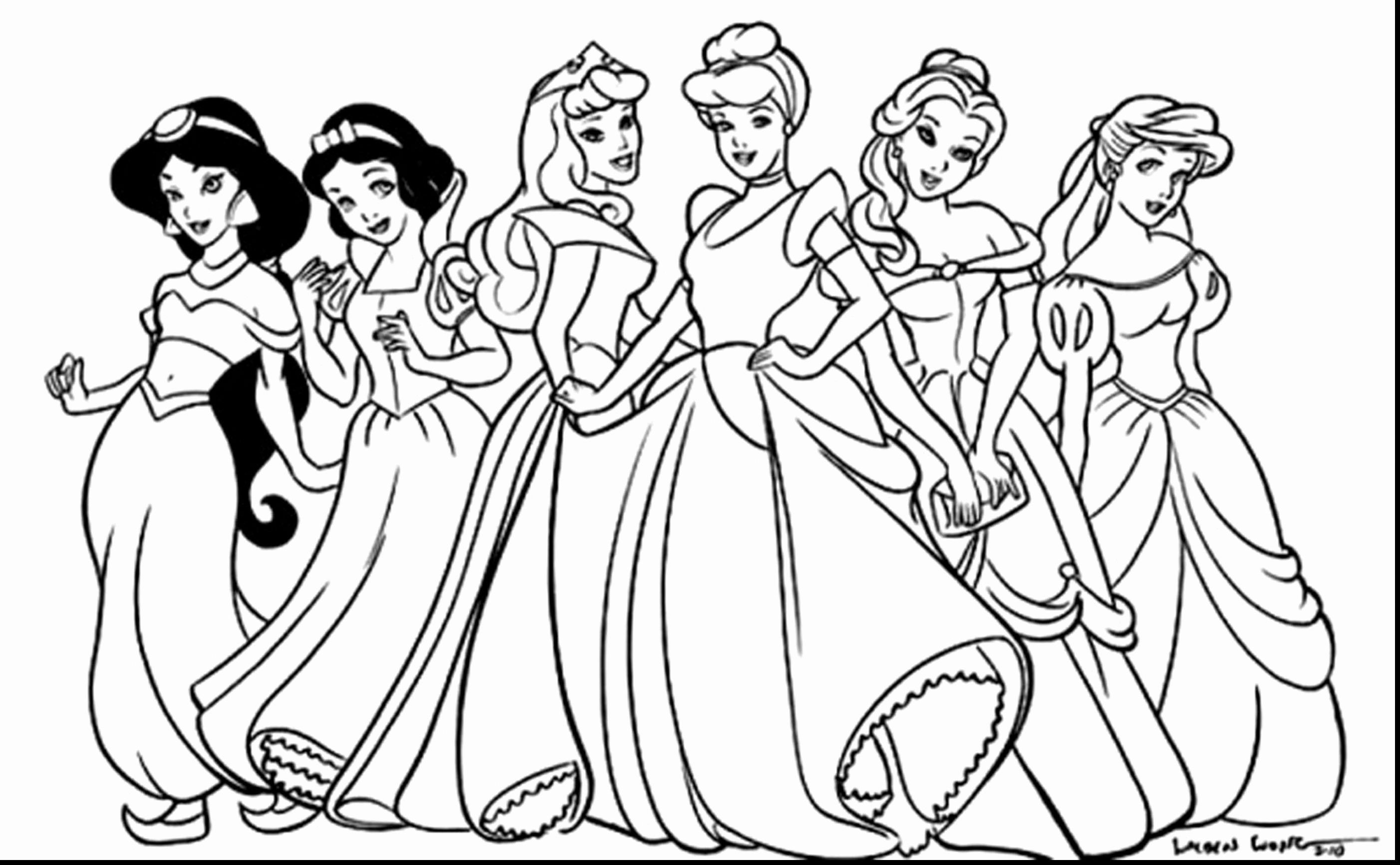 Coloring Pages Princess Pdf Disney princess coloring