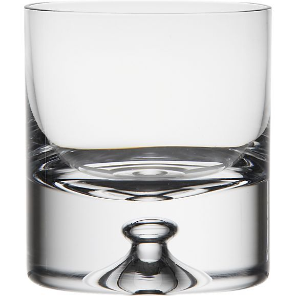 Direction 9 oz. Double Old-Fashioned Glass in Bar and Drinking Glasses   Crate and Barrel $11.19