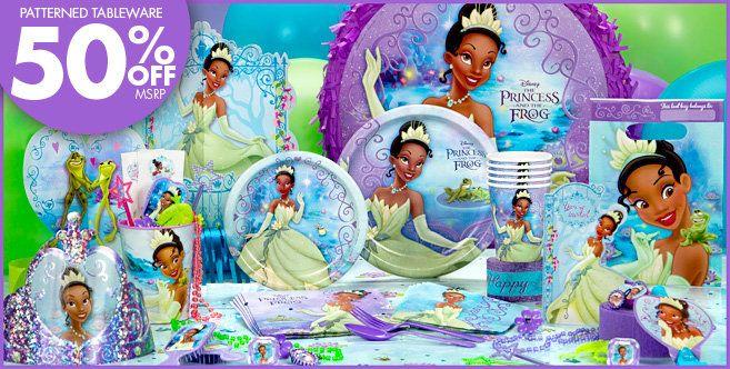 Party City Princess Tiana Supplies Color Green Purple