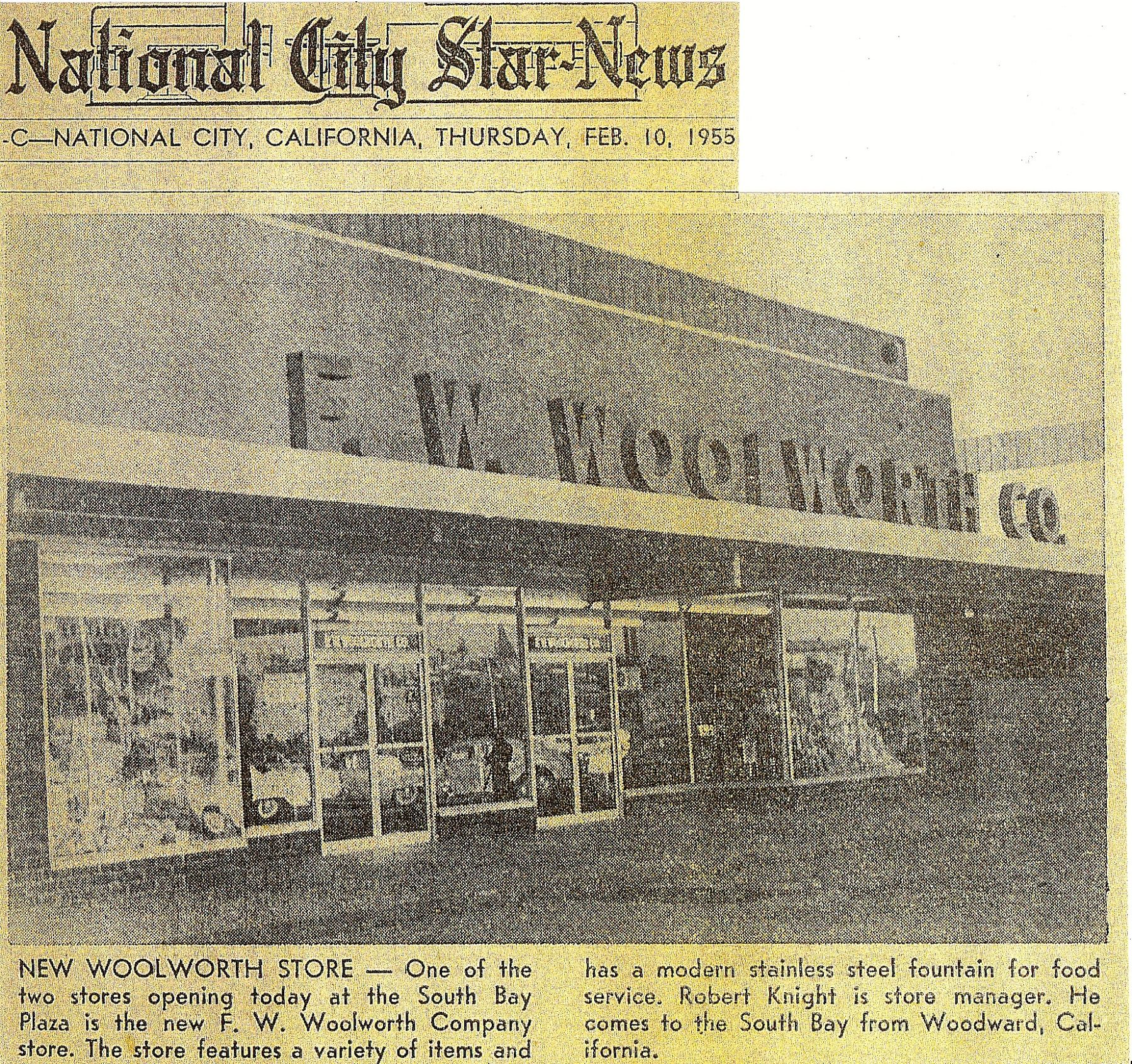 The Woolworth Store In National City That Dad Opened As