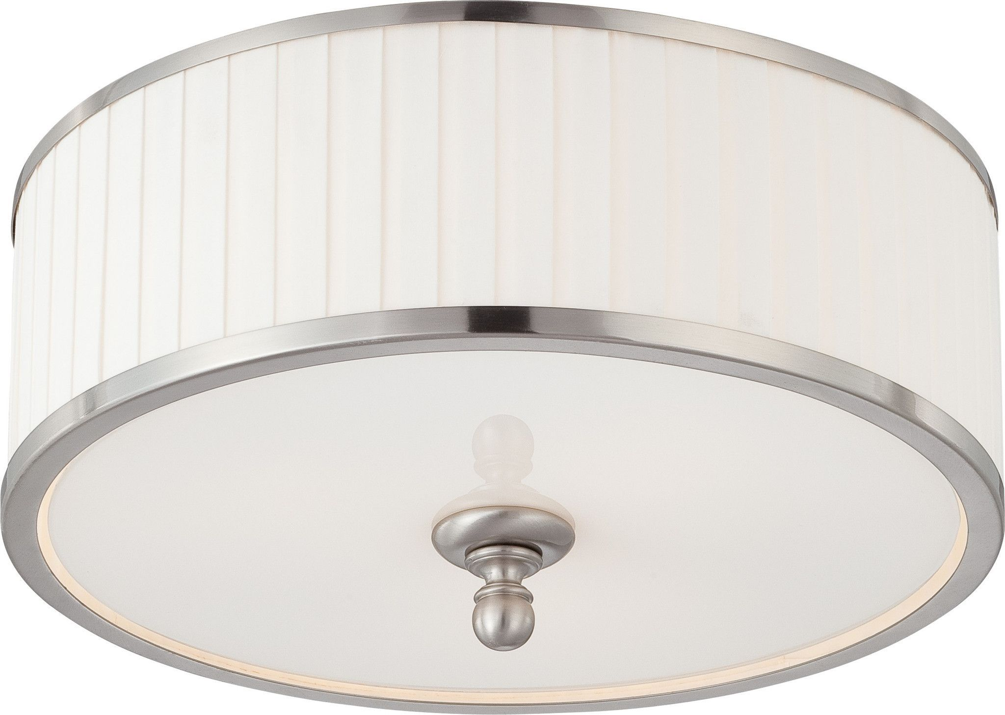 Dome flush mount lighting fixture in brushed nickel finish nickel dome flush mount lighting fixture in brushed nickel finish arubaitofo Choice Image