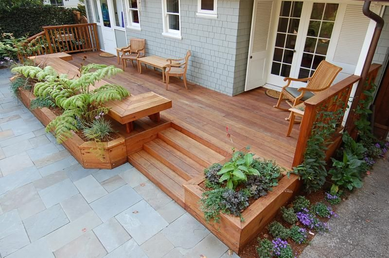 Planters As Deck Borders Decking Benches And Planters Built By Deck Contractor M M