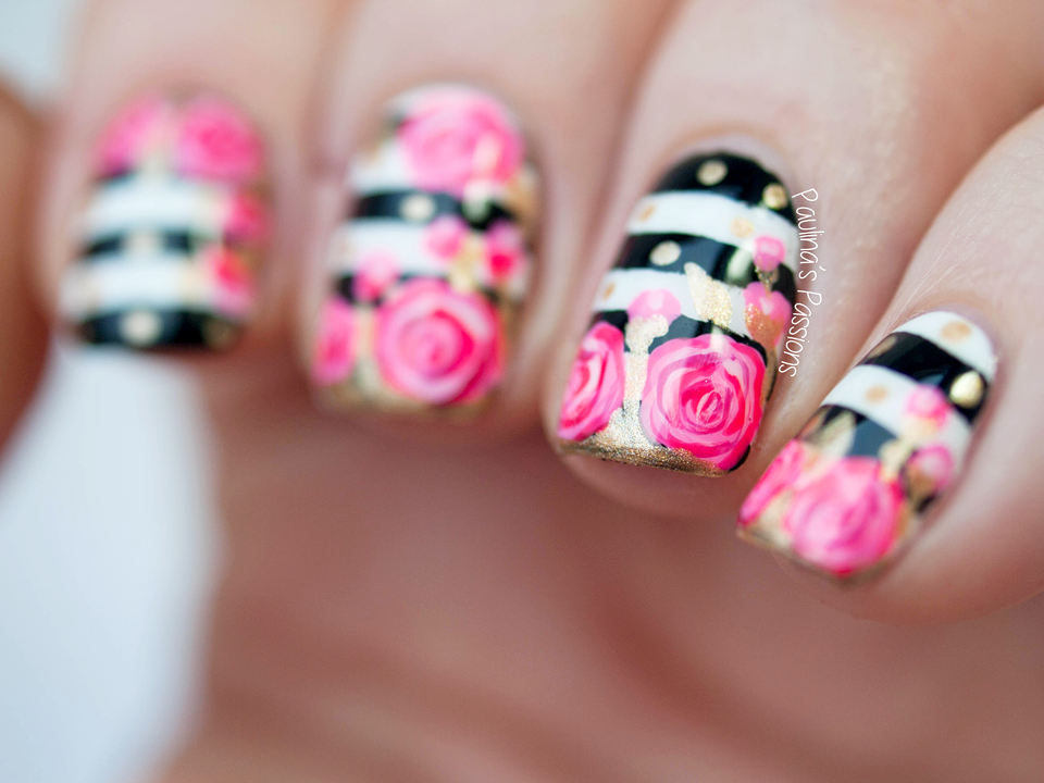 Rose Nail Art Tutorial by Paulina's Passions - Rose Nail Art Tutorial By Paulina's Passions Nailspiration