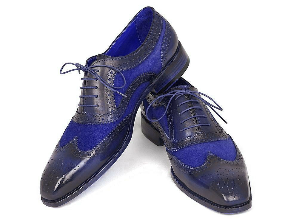 Men Gray And Black Oxford Shoes Genuine Leather Lace Up Derby Cap Handmade Shoes
