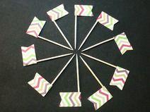 Muffin / Cupcake Stecker Fähnchen Deko 10 Stück