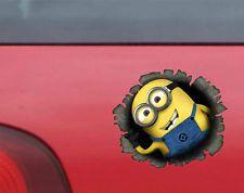 MINION BREAK OUT Funny CarVanBumperWindow Vinyl Decal Sticker - Minion custom vinyl decals for car