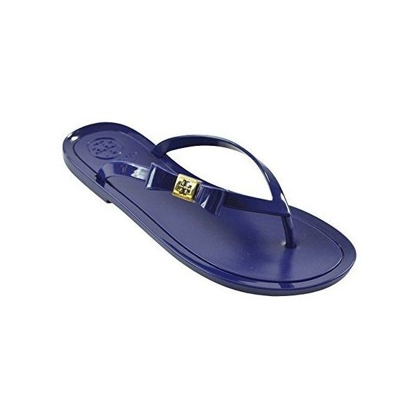 2694f720bb36 Tory Burch Michaela Bow Jelly Flip Flops ( 105) ❤ liked on Polyvore  featuring shoes