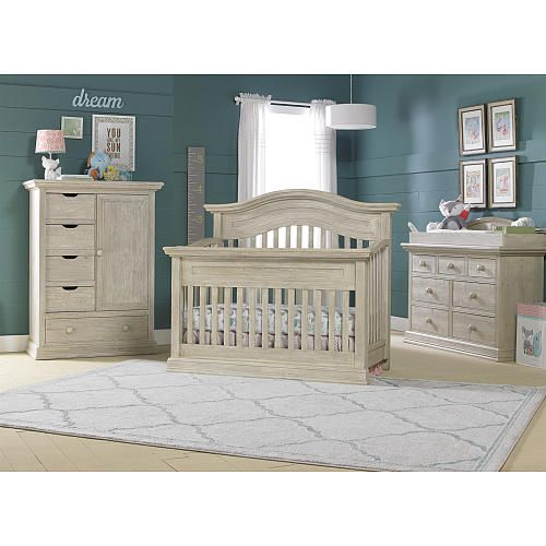 Cosi Bella Luciano Convertible Crib White Washed Pine Baby Nursery Furniture Sets White Washed Pine Baby Furniture Sets