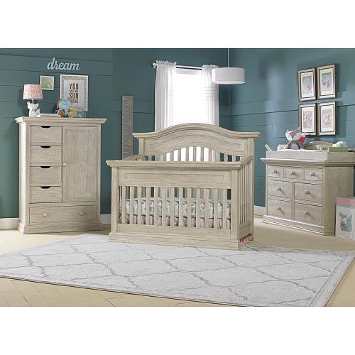 Cosi Bella Luciano Convertible Crib White Washed Pine Bivona