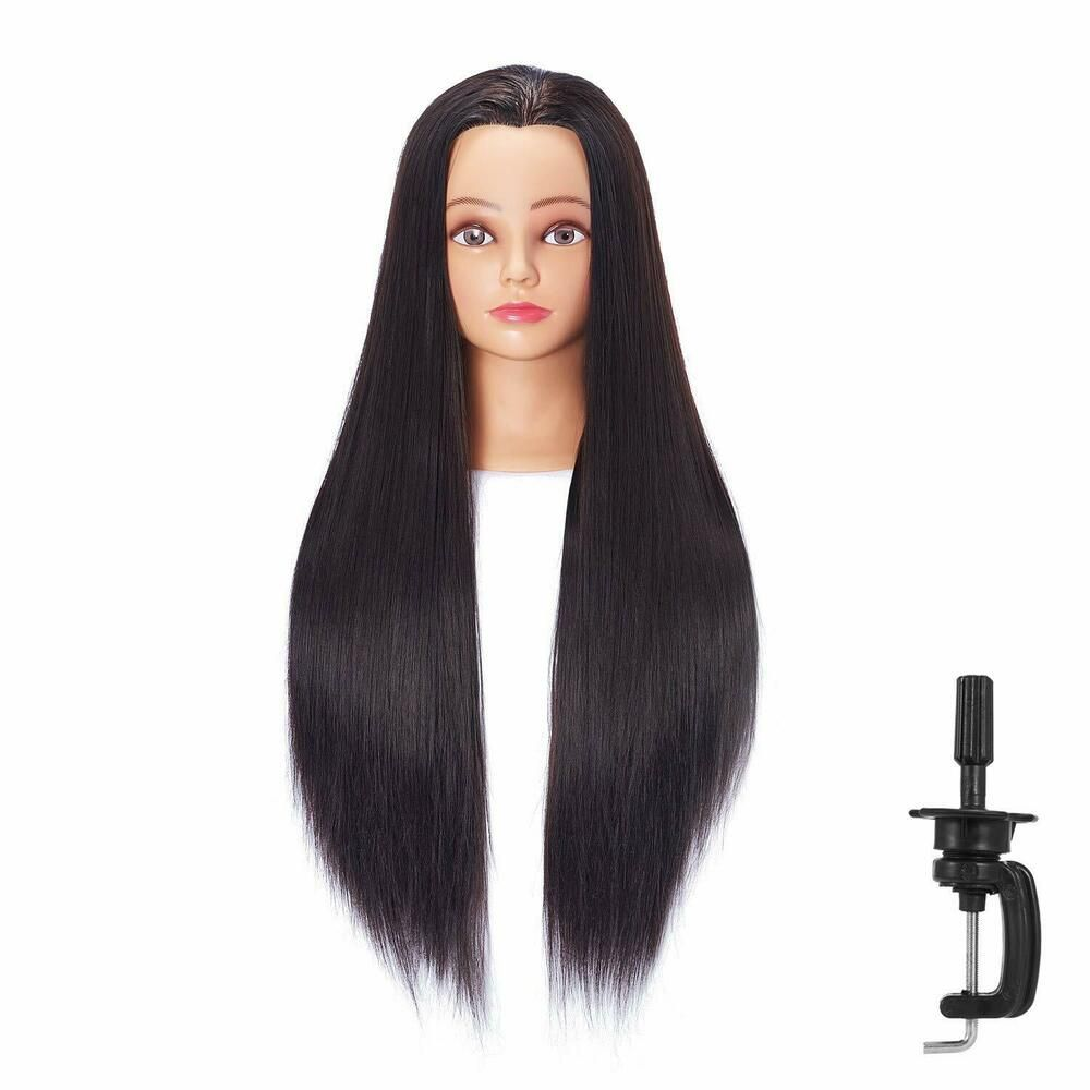 """26""""28"""" Cosmetology Mannequin Head Human Hair Hairdressing"""