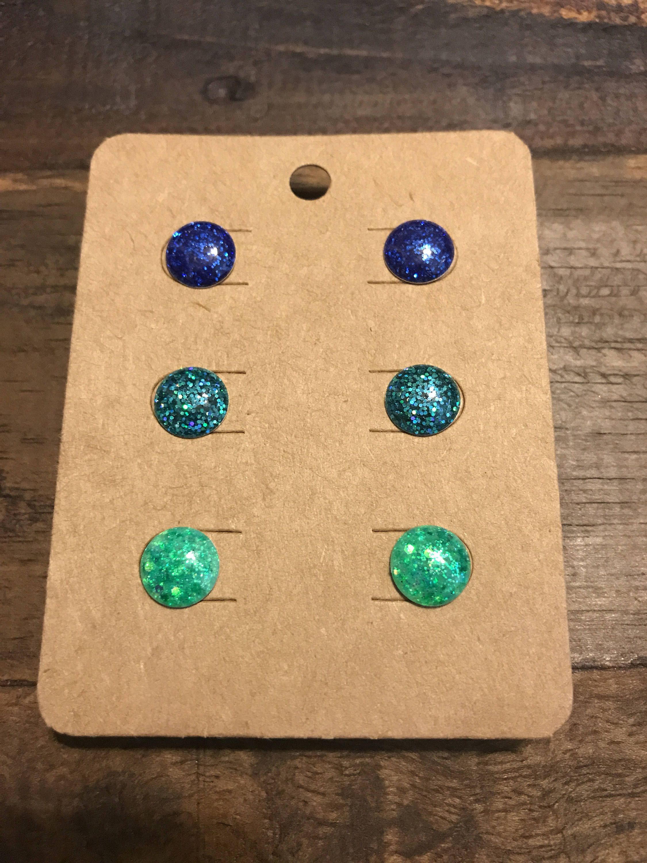 how to make resin earrings with glitter