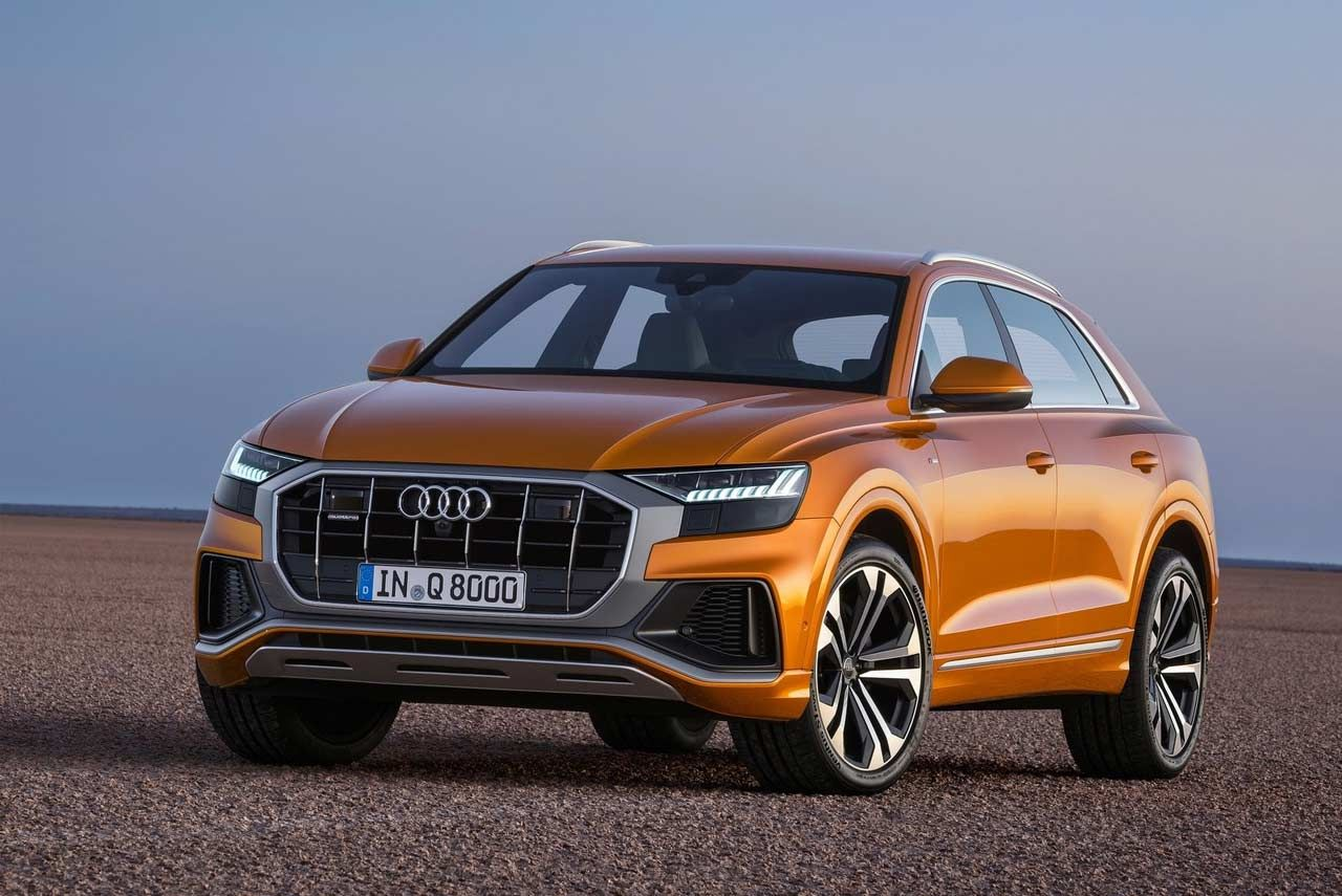 The New Audi Q8 Remains Faithful To The Dramatic Styling Of The Original Q8 Sport Concept First Revealed At The 2017 Geneva Motor Luxury Suv Audi Luxury Motor