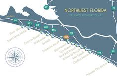30a Community Map Beaches Of South Walton Fl Scenic