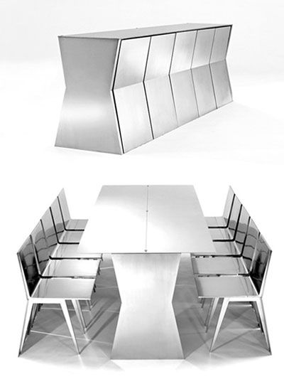 'Monolith' steel table by Gioia Meller Marcovicz.