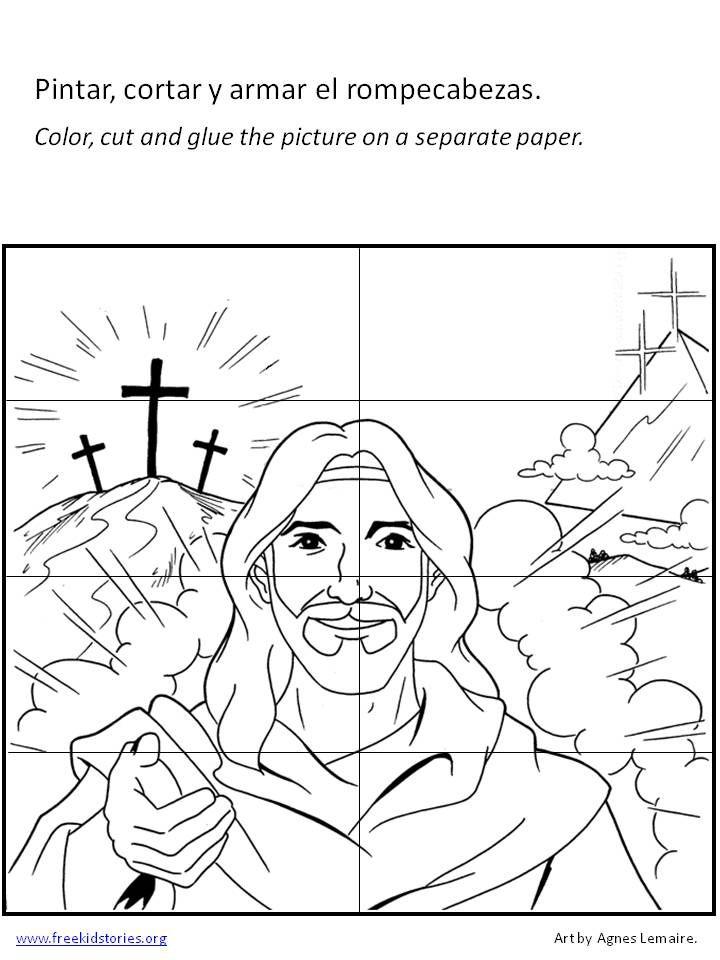 rompecabezas pascua   Bible crafts en 2018   Pinterest   La biblia ...