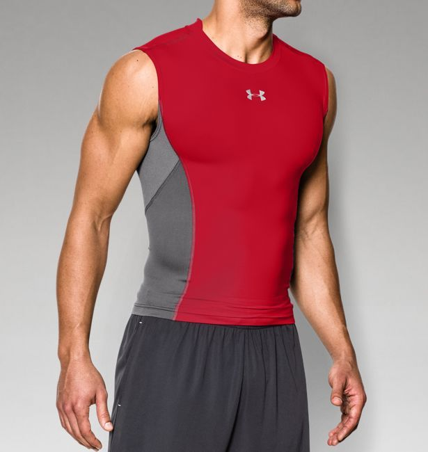 e9c710f444052 Men s UA HeatGear® Armour® Stretch Sleeveless Compression T-Shirt ...