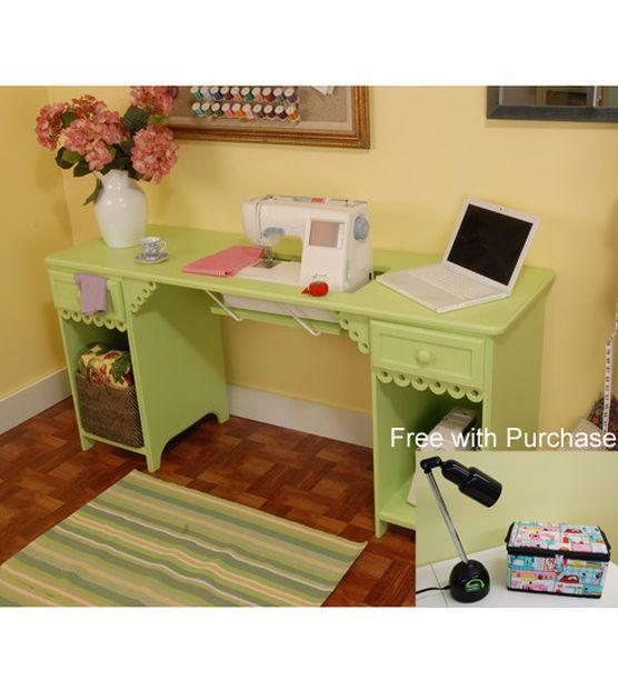 Arrow Homespun Olivia Sewing Cabinet Pistachio Sewing
