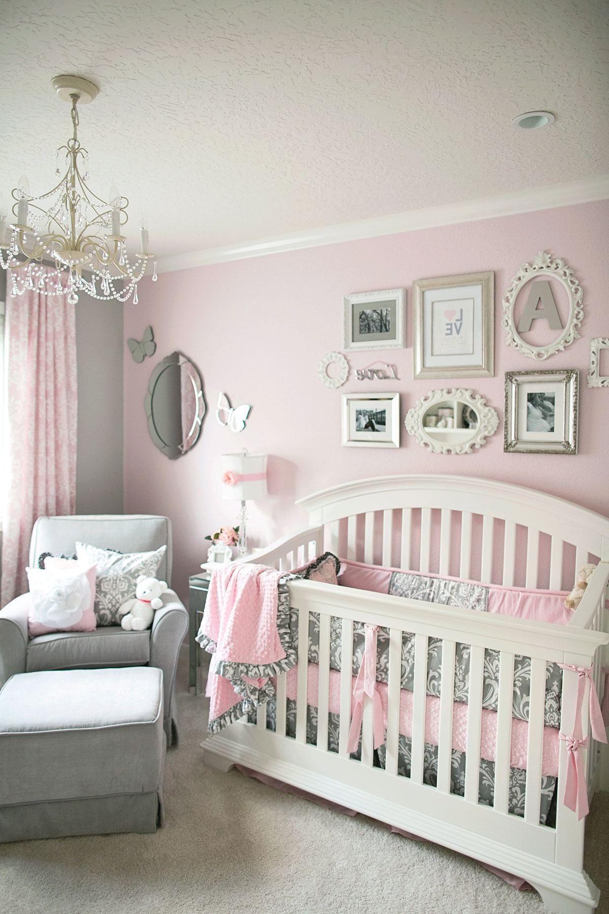 Nursery dcor Quarto de Beb Rosa